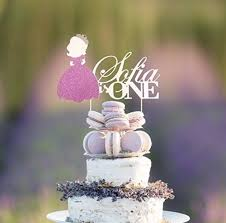 Amazoncom Sofia The First Personalized Age And Name Cake Topper