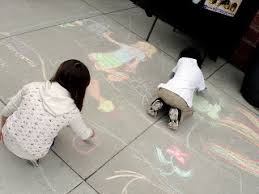 Image result for kids do sidewalk chalk