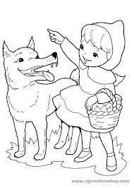 Cappuccetto Rosso Disegno Per Bambini Da Colorare