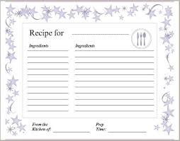 Recipe Cards Templates Blank Recipe Cards To Print Get Free Printable Recipe Cards Here Com
