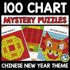 Chinese New Year Chart Chinese New Year 2019 Activity Kindergarten 100 Chart Mystery Picture Puzzles