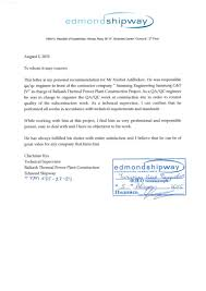 Reference Letter Edmond Shipway
