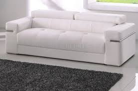 Sofa in White Bonded Leather by American Eagle Furniture