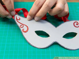 How To Make Face Mask From Chart Paper How To Make A Paper Mask 14 Steps With Pictures Wikihow