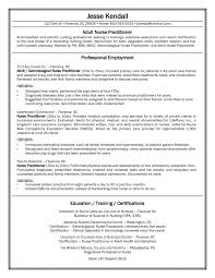 Sample Nurse Practitioner Student Resume For Physician Recruiter