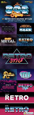 80's Retro Graphic Styles