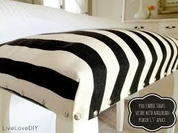 LiveLoveDIY: DIY Striped Upholstered Bench