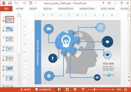 powerpoint map templates create animated mind maps with head puzzle powerpoint template