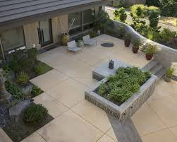 Concept Modern Concrete Patio Designs Contemporary Spaces Poured Stepping Stones Design In