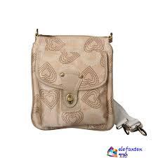 Fashion Coach Turnlock Signature Small Apricot Crossbody Bags