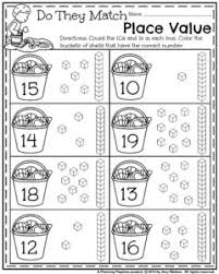 Summer Kindergarten Worksheets - Planning Playtime... Kindergarten Place Value Worksheets - Count and Color the buckets with the right number.