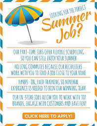Looking For The Perfect Summer Job Advantage Solutions Careers
