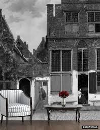 Het Straatje Van Johannes Vermeer Kunst Op Behang