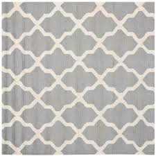 safavieh cambridge silver ivory 10 ft x 10 ft square area rug