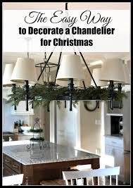 chandelier decorating tips