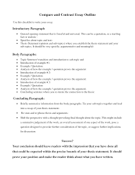 Compare Contrast Essay Examples Strong Pictures Comparison Outline