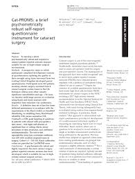 Pdf Is There Overutilisation Of Cataract Surgery In England