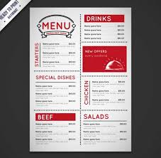 Free Restaurant Menu Templates Business Form Letter Template