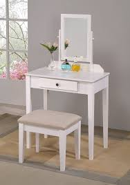 vanity table. Amazon.com: Crown Mark Iris Vanity Table/Stool, White Finish With Beige Seat: Kitchen \u0026 Dining Table Amazon.com