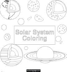 Solar System Coloring Sheets Space Planets Pages For Kids