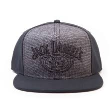 jack daniel s snapback cap adjule grey embroided
