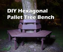pallet outdoor bench diy. Pallet Bench Around Tree Outdoor Diy A
