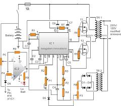 modified sine wave inverter circuit using ic regulated modified sine wave inverter circuit using ic 3525 regulated output and low battery protection