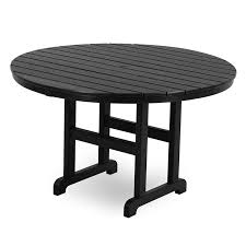 polywood outdoor round dining counter