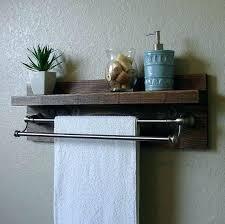 bathroom shelf towel bar double shelf towel rack bathroom glass with bar chrome