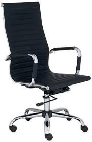 modern executive office chairs. Delighful Executive Modern HighBack Black Ribbed Upholstered Leather Executive Office Desk  Chair High Bak Black  BestDealDepot Throughout Chairs