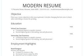 Doc Resume Template