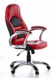 red leather office chair. Hjh OFFICE, 621300, Home Office Chair, Executive RACER 200, Red, Faux Leather, Thick Padded Ergonomic Backrest, Upholstered Seat And Red Leather Chair G