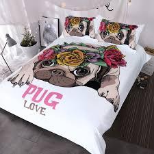 Sweet trendy bedroom furniture stores Bed Frames Blessliving Trendy Puppy Bedding Set Love Pug Rose Bed Set Queen Sweet Valentines Day Gift Kawaii Duvet Cover For Dog Lover Hgtvcom Blessliving Trendy Puppy Bedding Set Love Pug Rose Bed Set Queen