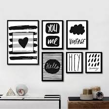 modern black white quote art canvas painting poster prints wall art picture paintings for living room on black white framed wall art with modern black white quote art canvas painting poster prints wall art