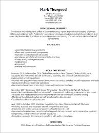 Aircraft Mechanic Resume Examples 1 Aircraft Mechanic Resume Templates Try Them Now