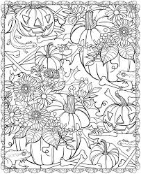 Small Picture Hard Coloring Pages Halloween Coloring Pages