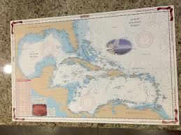 Details About Waterproof Charts Map Caribbean Sea Gulf Of Mexico Nautical Marine Noaa 411