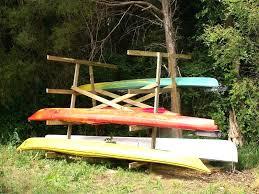wooden outdoor kayak rack homemade shelves holder