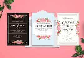 Wedding Invitation Set Templates Wedding Invitation Set Buy This Stock Template And Explore Similar