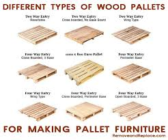 types of wood pallets to make furniture