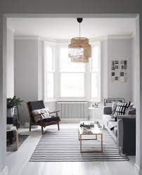 grey and white furniture. Before And After Living Room Makeover - Light Grey Walls Painted White Floors Furniture S