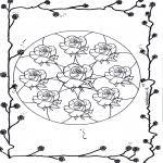 Bloemenmandalas Mandala Kleurplaten