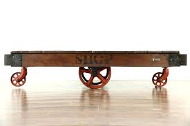 trolley cart coffee table coffee table sold industrial salvage vintage factory cart trolley or vintage trolley