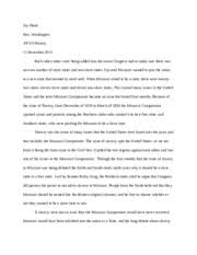 missouri compromise dbq by beforemissouri sadmissiontothe  2 pages missouri compromise long essay