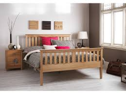 high double bed. Fine Double Wiltshire Oak High FootEnd Bed Frame Slatted Bedstead4u00276 Double And I