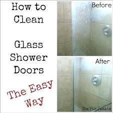 sublime how to clean hard water stains off glass shower doors how to clean hard water