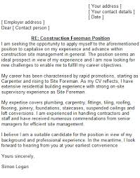 example of a cover letter uk construction cover letter sample