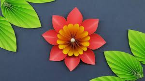 Paper Flower Making Video Colors Paper How To Make Easy Paper Flower Making Paper Flowers