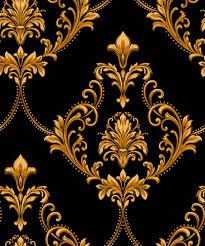 Motif Designs Wallpaper Damask Pattern Filigree In 2019 Art Deco Wallpaper