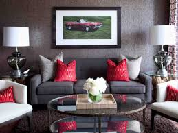 ... Decorating Ideas For Living Room Best Modern Design Round Glass Coffee  Table Black Fabric Sofa Shade ...